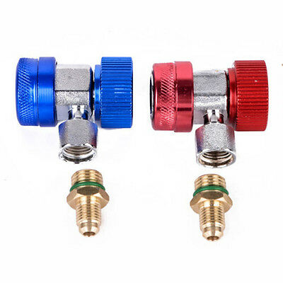Universal A/C Air Conditioner Quick Coupler Adapter Manifold Gas Connector R134A