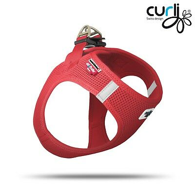 ♥Hundegeschirr Curli Vest Harness Red mit DogFinder und Cool down  S - L♥