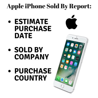 Purchase Country + Sold By Company + Purchase Date for any iPhone