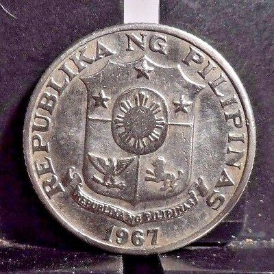 Circulated 1967 25 Sentimos Philippine Coin (102816)1