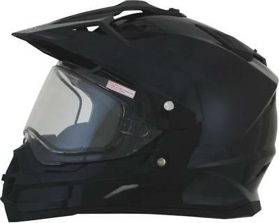 Afx Helm Helmet Fx 39 Solid Gloss Black Double Lens Shield M