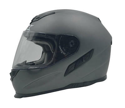 Afx Helm Fx-105 Solid Street Helmet Frost Gray Medium