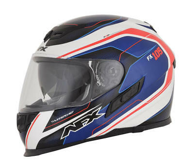 Afx Helm Fx-105 Thunderchief Street Helmet Blue/white/red X-Small