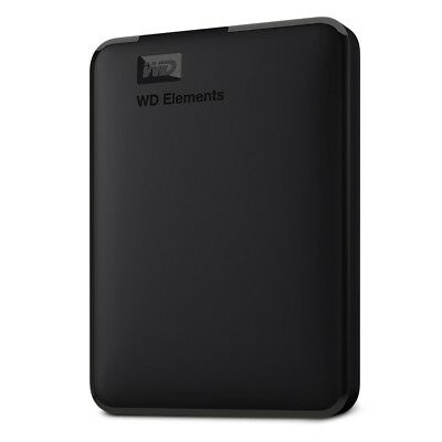 WD Elements 500GB Portable Hard Drive - Black Compact external HDD storage