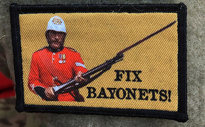 Martini Henry Fix Bayonets Morale Patch Tactical Military Army Badge Hook Flag