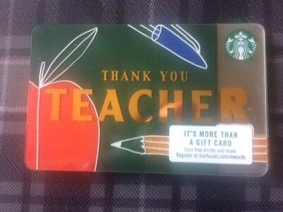 Free Ship Starbucks 2018 Thank You Teacher Gift Card 🍎 And Free Surprise Gift