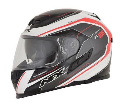 Afx Helm Fx-105 Thunderchief Street Helmet Black/white/red Small