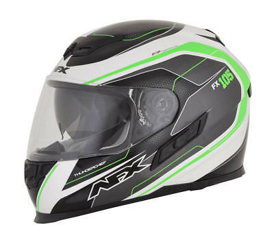 Afx Helm Fx-105 Thunderchief Street Helmet Black/white/green Large