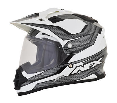 Afx Helm Fx-39 Veleta Dual Sport Helmet Large Black/white/gray Large