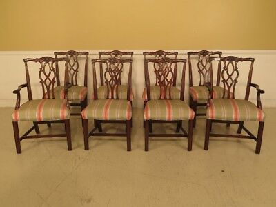 LF43383E: Set Of 8 KINDEL Chippendale Mahogany Dining Room Chairs