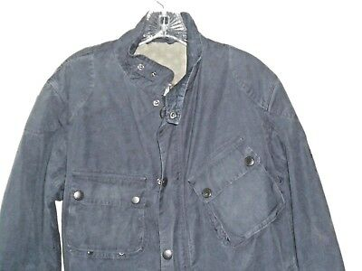 Barbour International Steve Mcqueen washed cotton motorcycle jacket size large