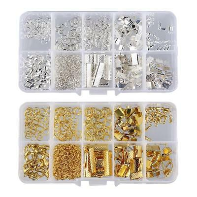 2 Sets Jewellry Findings Starter Kit Beading Making Kits Gold and Silver