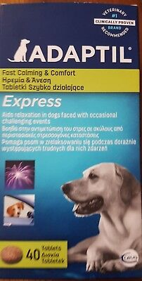 Adaptil Express Stress Relief Calming Tablets For Dogs x 40