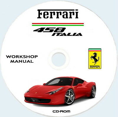 Workshop Manual Ferrari 458 Italia,manuale Officina + catalogo ricambi