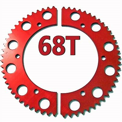 68T (tooth) #35 Chain Split Sprocket Racing Go-Kart Fun Cart Barstool Gear RLV