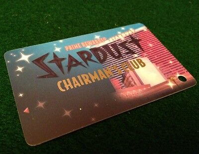 Stardust Casino Slot Chairman's Club Card Vegas Unused