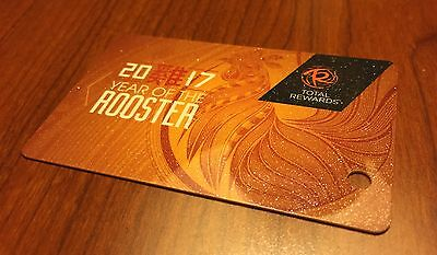NEW☀Blank Caesars Palace Year Rooster☀Card Casino Hotel Vegas Player Linq 2017☀