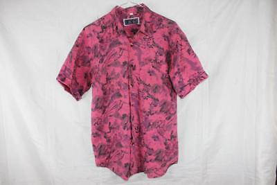 Vintage 80s TOPS  Punk New Wave SURF ELECTRO BUTTON UP SHIRT S GNARLY Festival