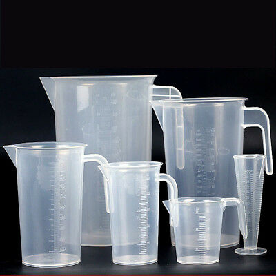 Plastic Kitchen Measuring Jug Easy Clean Hard Wearing With Handle 100-1000ML NEW
