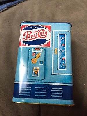 Vintage Pepsi Cola vending machine tin bank made by Hallmark