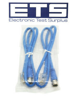Lot Of 2 RJ45 To F Type Coax Coaxial Enhanced 350 MHz Patch Cord Cable 2'