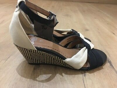8d45a88ee1c3 NEXT LADIES SNAKE/ANIMAL print Wedge Sandals/shoes, Size 4/37, Good ...