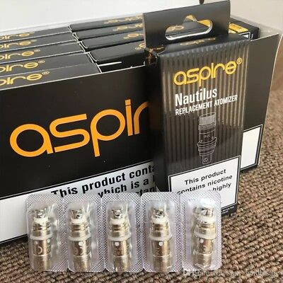 5 x Aspire Nautilus / Nautilus 2 / Mini BVC Replacement Coils (1.6/1.8/ 0.7 Ohm)