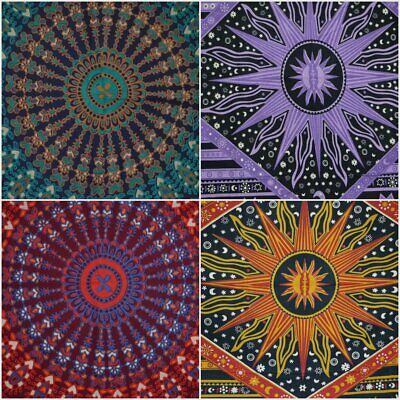 Indian Tapestry Wall Hanging Mandala Multi Colour Twin Size Tapestries UK Seller