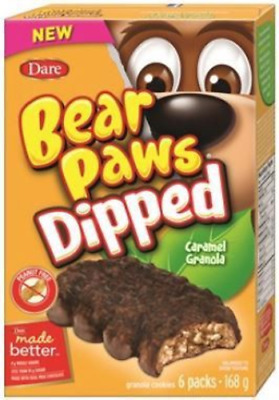 Dare Bear Paws Dipped Caramel Granola Cookies 6 boxes x 168g Canadian