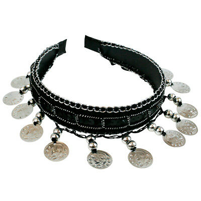 Belly Dance Tribal Silver Coins Headband Gypsy Jewelry Halloween Costume