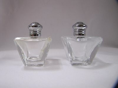 Miniature Glass Salt and Pepper Shakers Glass Art Deco L Rice I Rice Vintage
