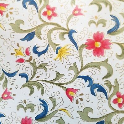 9ft Flower print contact wall paper self adhesive Shelf liner peel & stick
