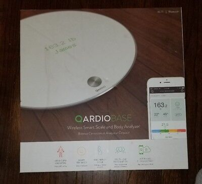 OPEN BOX Qardio Qardiobase Wireless Smart Scale and Body Analyzer Model B100-10W