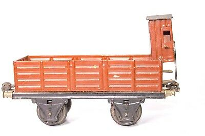 Vintage Pre-War 1-Gauge Marklin Gondola With Breakman's Shack