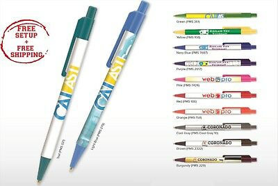 Business Pens Printed with your Company Name / Logo / Text in Full Color 250 QTY