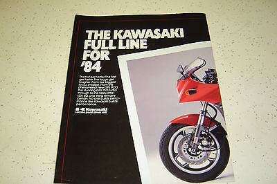1 Fulline Kawasaki 1984 NOS. Sales Brochure.12 Pages.Poster Type.