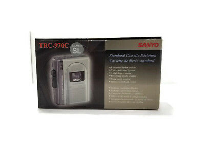 Sanyo TRC-970C Standard Cassette Dictation Recorder w/ Case and A/C Adapter