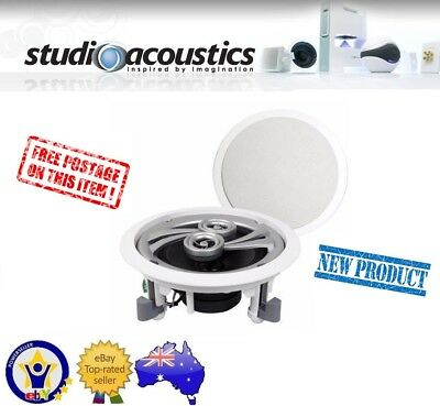 "Studio Acoustics Sa350A 5.5"" 2-Way 70W In-Wall In-Ceiling Speakers Pair 5-1/2"""