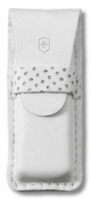 4.0762.7 Victorinox Swiss Army Knife White Leather Pouch For Classic / Tomo 58mm