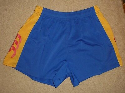 New Size 32 Mens Canterbury On Field Rugby Union Shorts Blue Ex Shop Stock
