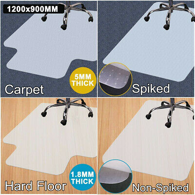 New 120X90cm Vinyl PVC Carpet Floor Chair Mat Office Computer Chairmat Protector