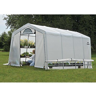 Shelterlogic GrowIt 20L x 10W x 8H ft. Greenhouse-In-A-Box, Translucent, 20L x