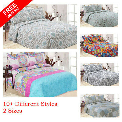 Luxury Coverlet Bedspread set Single & king single size Bed 180×220 cm 14 styles