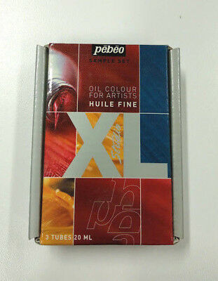PEBEO Huile Fine XL Oil Paints Sample Set of 3 x 20 mL tubes (Red, Yellow, Blue)