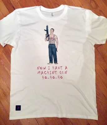 Die Hard inspired tee - Now I Have A Machine Gun (made to order, S-M-L-XL)