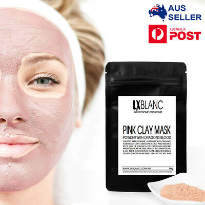 Pink Clay Dry Face Mask | Bentonite, Dragons Blood, Kukui Nut, Madder Root | AU