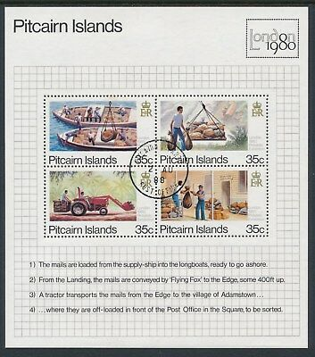 1980 Pitcairn Islands London 1980 Stamp Show Minisheet Fine Used