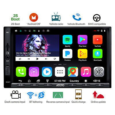 ATOTO A6 Indash 2DIN Android Car GPS Stereo Radio /2A Charge/A6Y2721PB/Bluetooth