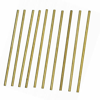 10Pcs New Brass 100mm x 3mm Round Rod Stock for RC Airplane Model