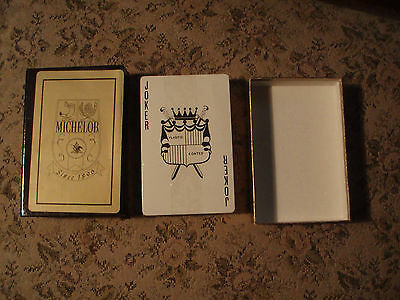 Vintage Michelob Beer Gold Playing Cards MINT  in sealed slide box only one